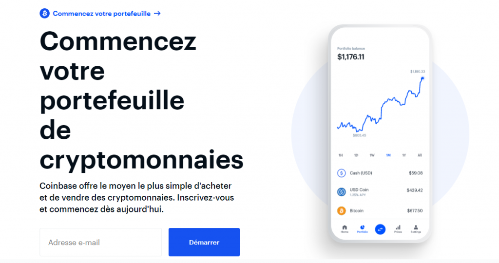 Coinbase - Une plateforme pour acheter ses premiers bitcoins