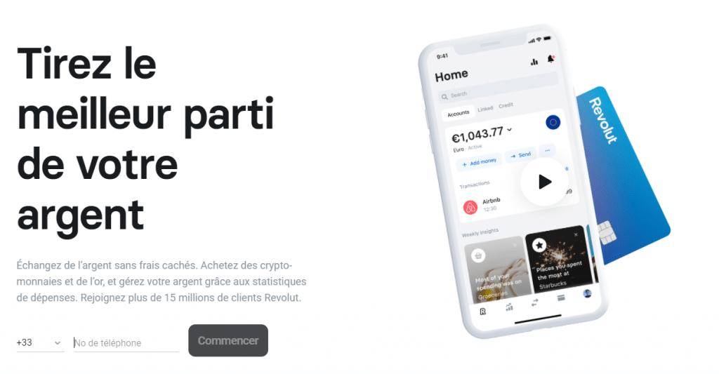 Banque Revolut - Pour achter des cryptos ou des matières premières depuis votre smartphone