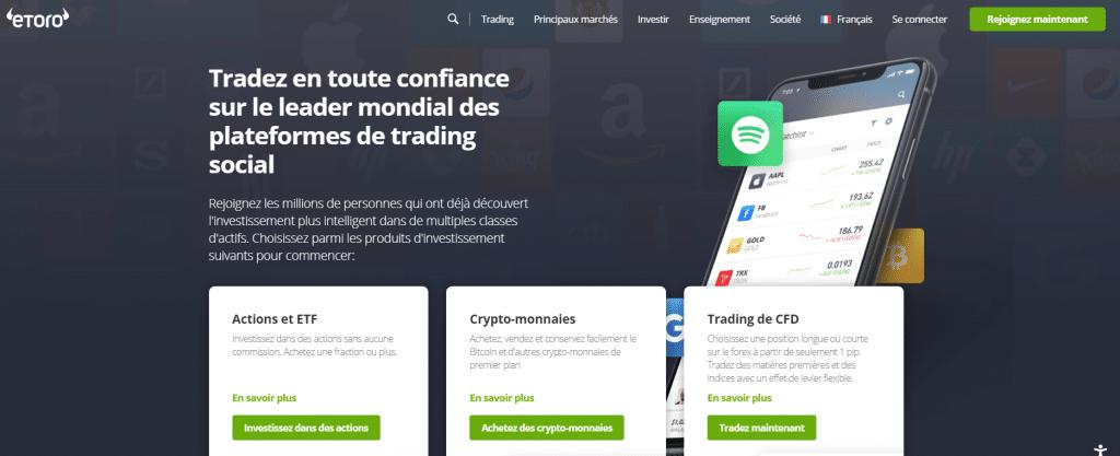 Etoro Plateforme de trading social sur les crypto-monnaies